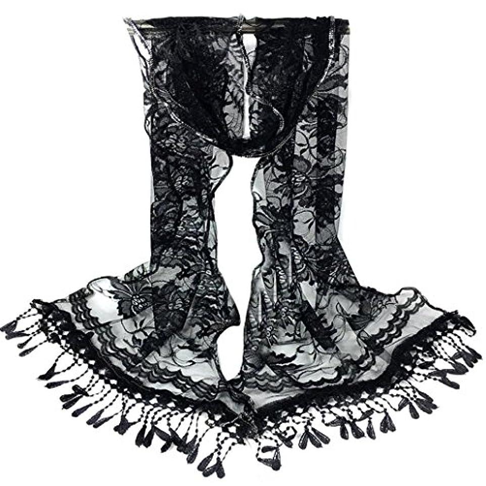 離れてお手入れ擬人[SakuraBest] 女性ロングスカーフタッセルショールフラワーレーススカーフ