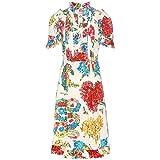 (グッチ) Gucci レディース ワンピース・ドレス ワンピース Printed cotton dress [並行輸入品]