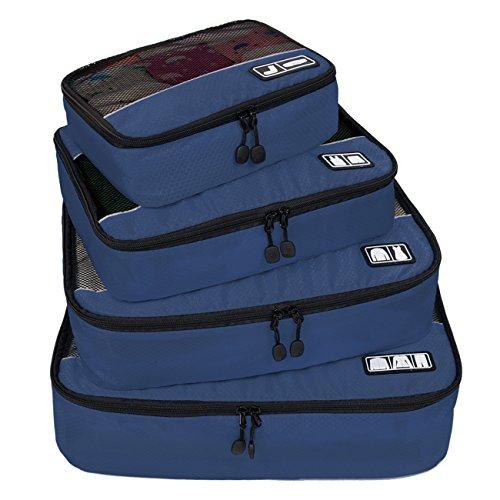 (バッグスマート) BAGSMART トラベルポーチ 4点セット ワイシャツ出張ケース オーガナイザー パッキングキューブ 出張 旅行 整理整頓 プレゼント ギフト