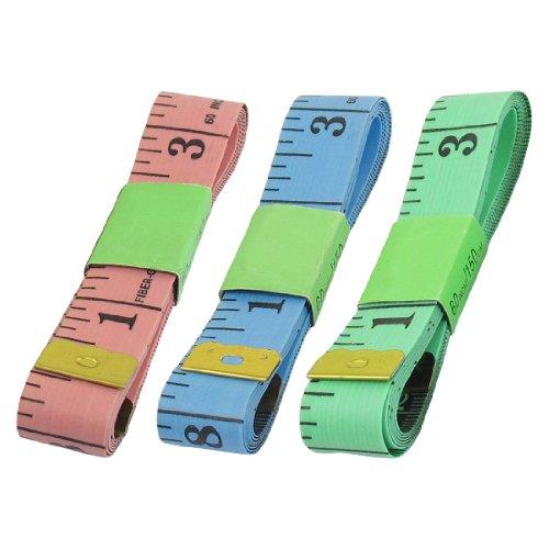 uxcell テープメジャー 巻尺 ルーラーテープ 巻き尺 測量ツール ダブルスケール 1.5M  5個セット