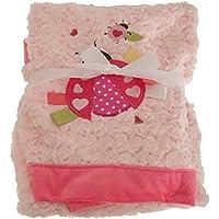 (スナグル?ベビー) Snuggle Baby 赤ちゃん?ベビー用 てんとう虫 プラッシュ ブランケット 毛布 おくるみ (ワンサイズ) (ピンク)