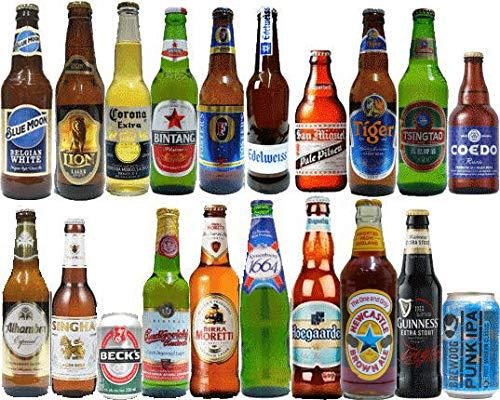 ビールセット 世界のビール 20ヶ国 飲み比べ [スタンダード] 20本 説明書付
