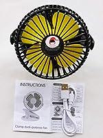 RedHat卓上扇風機 usb扇風機 クリップ扇風機 小型扇風機 壁かけ扇風機 強風扇風機 省エネ 熱中症対策 せんぷうき (ブラック)