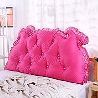 ヘッドボードベッドサイドクッションパッド洗えるコットンカバーソフトケース腰椎枕、多機能ラージバックウエストガードネックガード非常に柔軟、6色、6サイズ (Color : E, Size : 200 × 15 × 70CM)