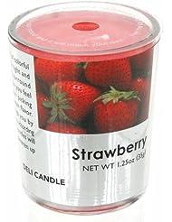 デリキャンドル ストロベリー 35g(フルーツの香りのろうそく 燃焼時間約10時間)