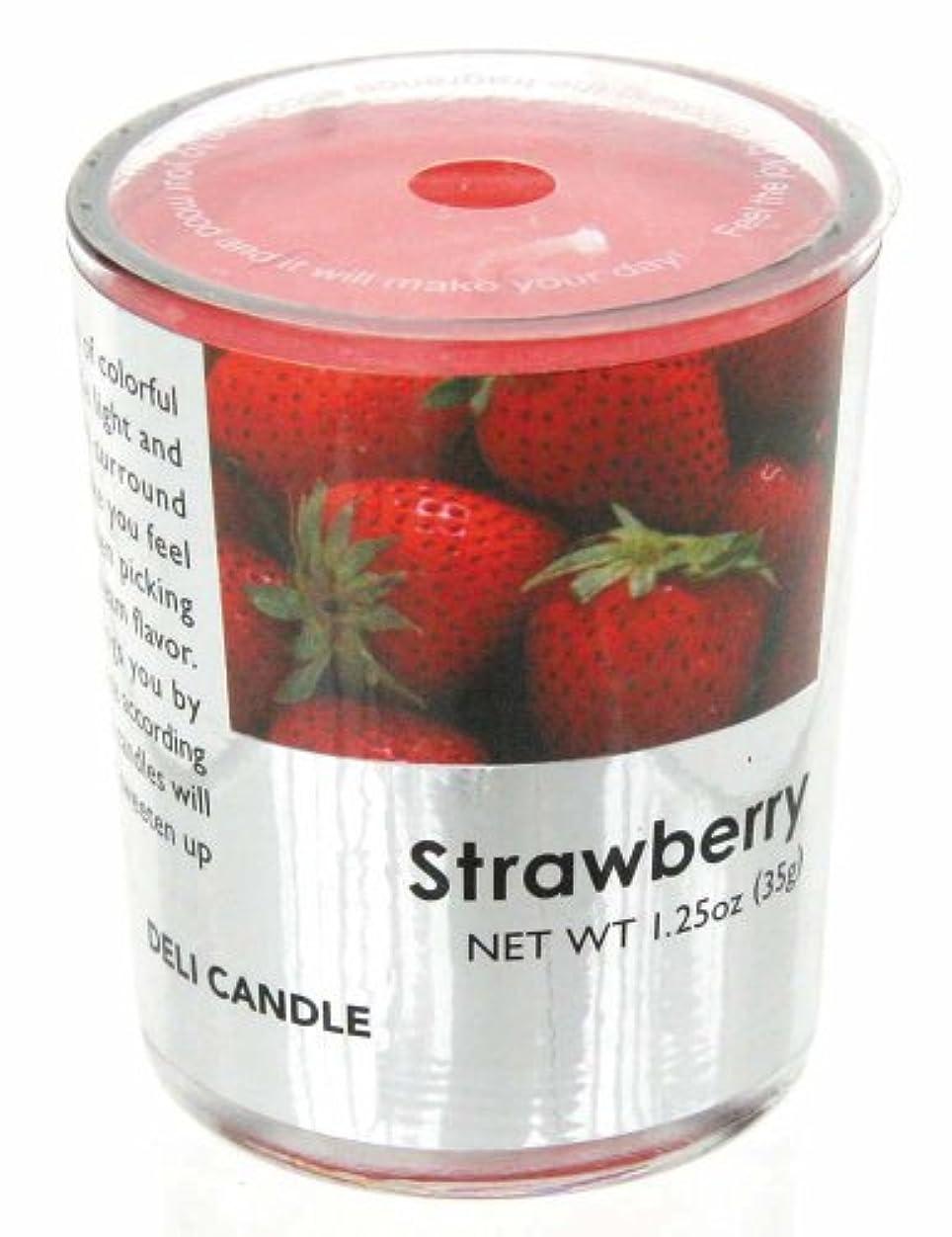 ホールド助けてほのかデリキャンドル ストロベリー 35g(フルーツの香りのろうそく 燃焼時間約10時間)