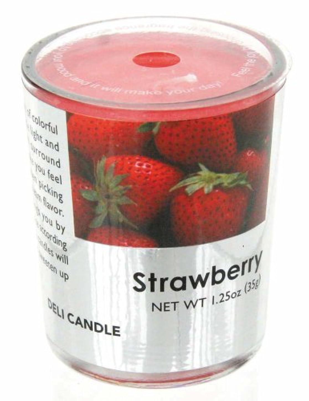 ひねくれたぞっとするようなドアミラーデリキャンドル ストロベリー 35g(フルーツの香りのろうそく 燃焼時間約10時間)