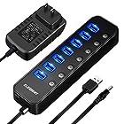 【タイムセール】USB3.0ハブ セルフパワー 7ポート+1充電ポート 電源付きが激安特価!