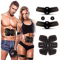 USUNS 腹筋ベルト EMS 腹筋トレーニング フィットネスマシン 6モード USB充電式 ダイエット 腹筋トレ お腹 腕 超薄、静音 自動的に 腹筋器具 男女兼用