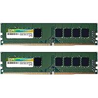 シリコンパワー デスクトップPC用メモリ DDR4-2400(PC4-19200) 4GB×2枚 288Pin 1.2V CL17 永久保証 SP008GBLFU240N22