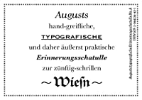 Augusts Erinnerungsschatulle Wiesn