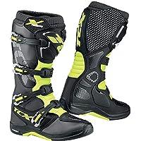 TCX 9671メンズx-helium Michelinオフロードバイクブーツ–ホワイト 45 ブラック 9671-YEFL-45