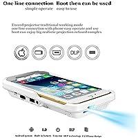 Snail Shop ポータブルビデオプロジェクターfor iPhone 7/6 / 6s plus/Androidシリーズ 400㏐/ 100 ANSI LED 854 x 480 HDMI - 視聴シェアできるビデオゲーム/ムービーテレビ写真用プロジェク ター
