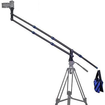 TARION DSLRデジタル一眼レフ ビデオカメラ用 スイングアーム スケーラブル設計 収納袋付き ブラック&ブルー