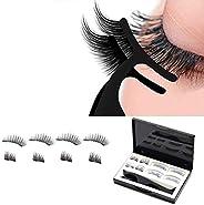 Magnetic False Eyelashes, 3d natural effect Reusable without Glue Ultra Thin Handmade False Eyelashes, with Tw