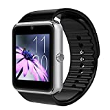 WeTop スマートウォッチ欧米人気品  SIMフリー iPhone &Androidスマートフォン対応 腕時計 Smart Watch 着信お知らせ/置き忘れ防止/歩数計/ストップウォッチ/高度計/ 日本語対応 シルバー