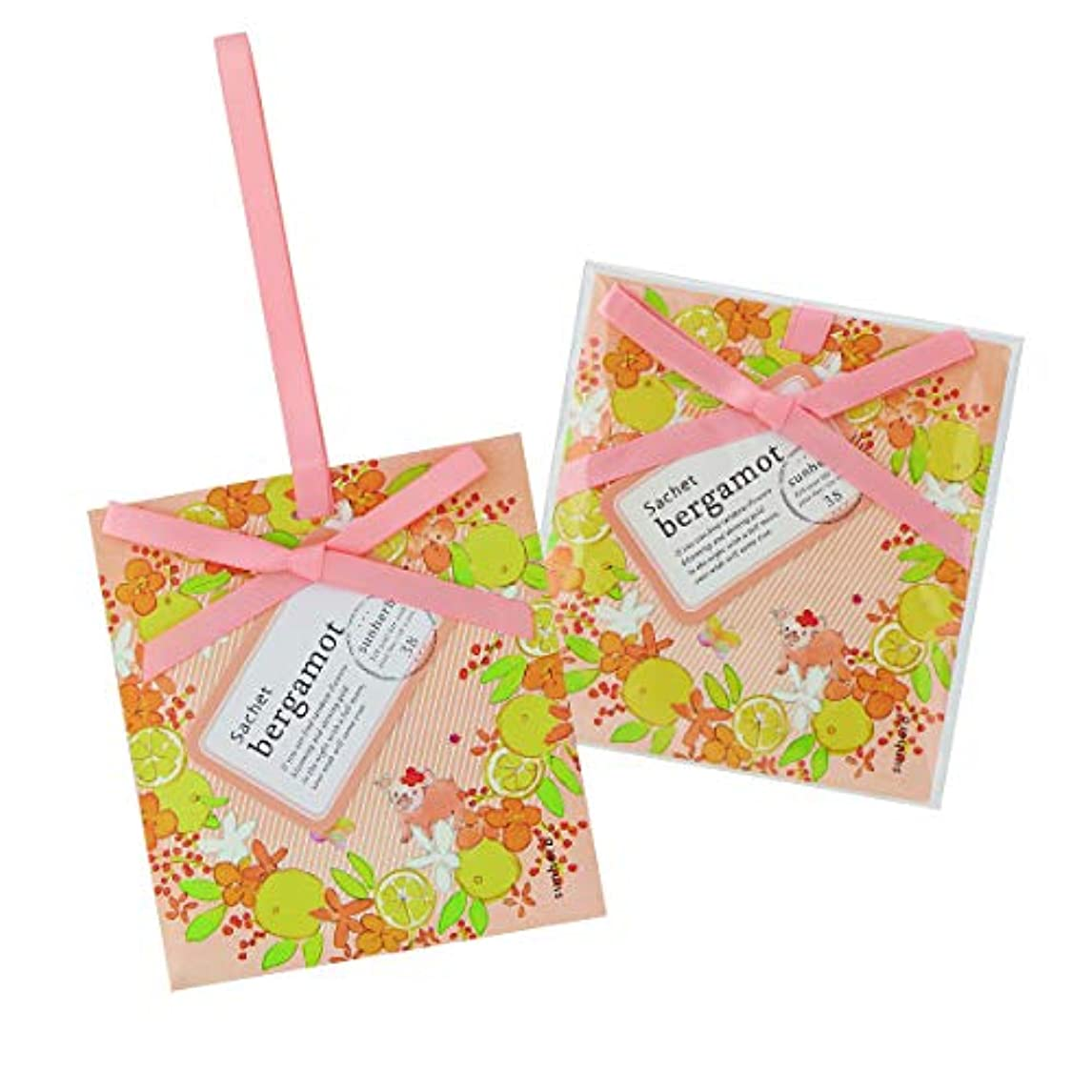 流行入場広々サンハーブ サシェ ベルガモット 12個(芳香剤 香り袋 懐かしい甘酸っぱい香り)
