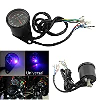 FidgetGear 12V Motorcycle Speedometer Odometer Digital Gauge LED Instrument Gear Indicator
