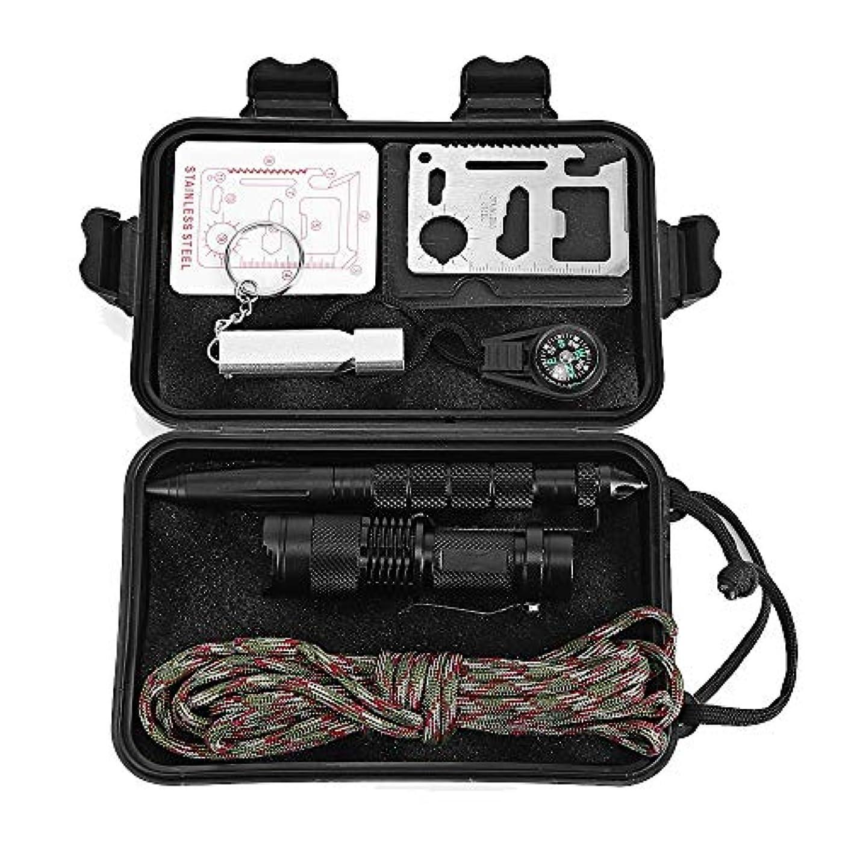 冬幾分花束狩猟登山ハイキングキャンプ旅行のための1多機能緊急サバイバルキット屋外Sos機器ツールの7