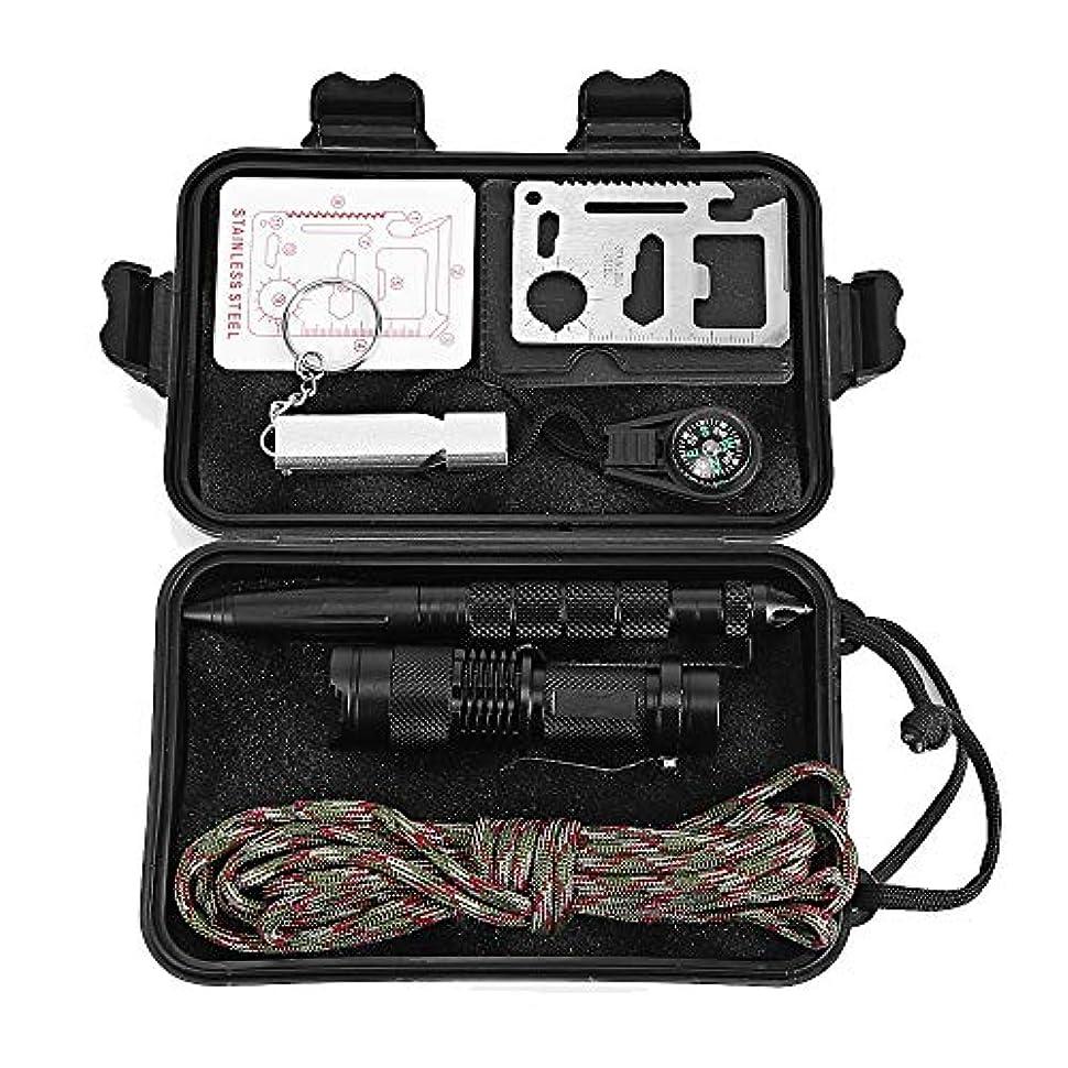 少年パック中断狩猟登山ハイキングキャンプ旅行のための1多機能緊急サバイバルキット屋外Sos機器ツールの7