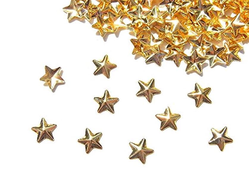 曲線水没責任【jewel】mp12 ゴールド メタルスタッズ Lサイズ 星10個入り ネイルアートパーツ レジンパーツ