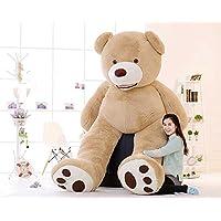 HYAKURIぬいぐるみ 特大 くま/テディベア 可愛い熊 動物250CM 大きい くまぬいぐるみ/熊縫い包み/クマ抱き枕/お祝い/ふわふわぬいぐるみ (250CM, 画像通り)