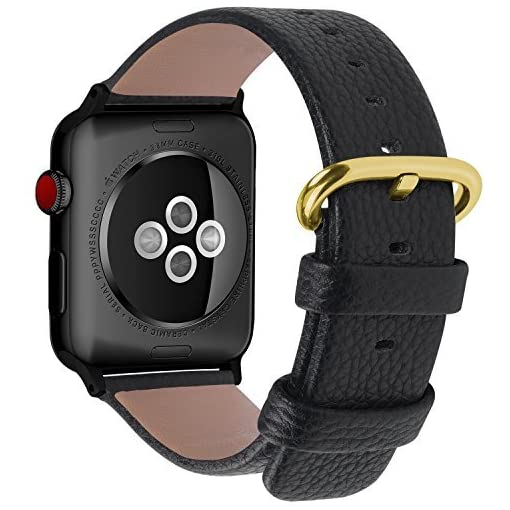 99807a76523 Fullmosa Compatible Apple Watch Band 38mm 40mm 42mm 44mm Calf Leather  Compatible iWatch Band Strap Compatible Apple Watch Series 4 Series 3  Series 2 Series ...