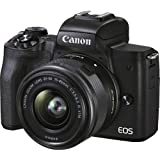 Canon EOS M50 Mark II with EF-M15-45mm (Black)