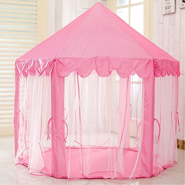 junovo Girls Princess Castle Play TentインドアアウトドアChildren Play House Kids Houseおもちゃ、高さ53-inch直径55-inch、ピンク