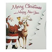 パルプカード クリスマスカード CHL93 サンタとトナカイ