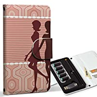 スマコレ ploom TECH プルームテック 専用 レザーケース 手帳型 タバコ ケース カバー 合皮 ケース カバー 収納 プルームケース デザイン 革 クール 人物 ピンク 007231