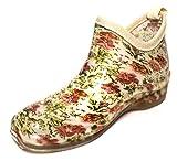 長靴 レディース 短い ショート 丈 軽量 婦人 PVC ガーデニングブーツ 花柄 L 25cm