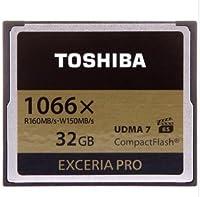 【32GB】 東芝/TOSHIBA EXCERIA PRO コンパクトフラッシュ 1066倍速/UDMA7/海外リテール CF-032GSR8A