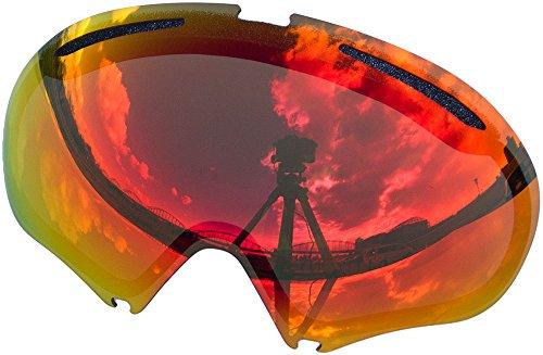 オークリー A FRAME2.0 ゴーグル用交換レンズ RED MIRROR