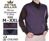 ピーターミラー メリノ ヘリンボーン Vネック 長袖セーター