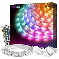 Govee LEDストリップライト 防水 RGBライトストリップキット リモコン 部屋 寝室 テレビ キッチン用 16.4FT マルチカラー H61401A2