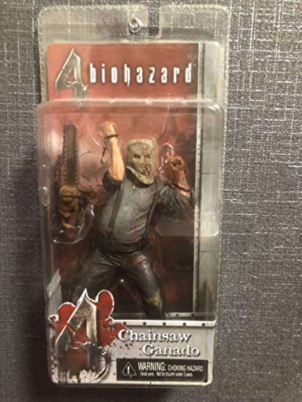 値下げメナジェリーハーフNECA Resident Evil Chainsaw Ganado ネカ バイオハザード4 ガナード チェーンソー 血飛沫