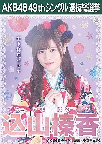 【込山榛香 AKB48 チーム4】 AKB48 願いごとの持ち腐れ 劇場盤 特典 49thシングル 選抜総選挙 ポスター風 生写真