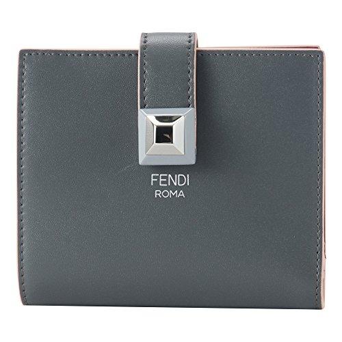 フェンディ 財布 FENDI 8M0386 SWD F11RH RAINBOW SMALL レディース 二つ折り財布 無地 ASPHALT/BLACK CHERRY [並行輸入品]