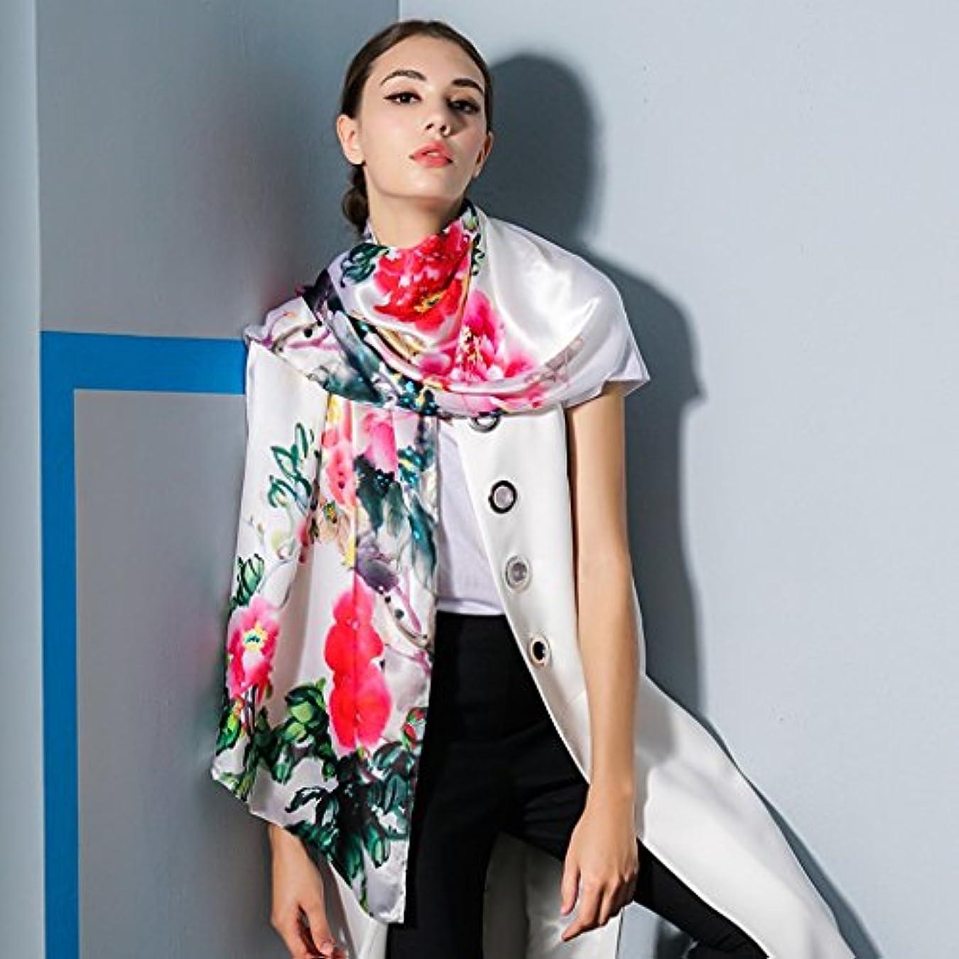 勝つ行動コアGAODUZI シルクスカーフ女性の夏のシルクスカーフ長いサンショール女性の春と秋の野生のシルクの日焼け止めのスカーフ ( 色 : B )