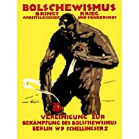PROPAGANDA POLITICAL BOLSHEVISM WAR MONSTER BOMB KNIFE ART PRINT POSTER 30X40 CM 12X16 IN 宣伝政治戦争モンスターアートプリントポスター