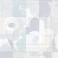 marimekko MINI RUUTU UNIKKO ペーパーナプキン 25cm/ライトグレー 91【89046】マリメッコ ミニルーツウニッコ