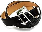 (タバラット)TAVARAT 日本製 紳士ベルト 【本革 姫路産サドルレザー サイズ調節可 35mm メンズ】 (ブラック) Tps-001_bk