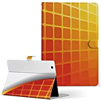 igcase arrows Tab F-02K FUJITSU 富士通 アローズタブ タブレット 手帳型 タブレットケース タブレットカバー カバー レザー ケース 手帳タイプ フリップ ダイアリー 二つ折り 007563 ユニーク チェック 赤 レッド オレンジ