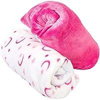 Cozy Fleeceマイクロ起毛装備ベビーベッド用シーツ 26x52 ピンク CRBSS PNKSTRMN