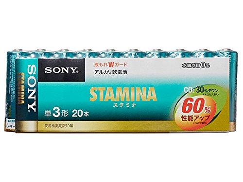 ソニー SONY アルカリ乾電池 スタミナ 単3形 20本パック LR6SG-20PD