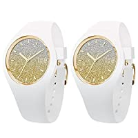 [アイスウォッチ]ICE WATCH ペアBOX付 ペアウォッチ ICE-WATCH shop 限定モデル ICE lo ホワイト ゴールド 防水 Medium 40mm 013432013432 腕時計 [並行輸入品]