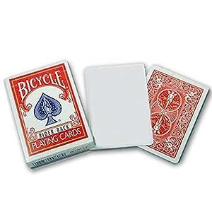 【トランプ】 【トリックカード】 バイスクル BICYCLE ブランクフェイス 赤