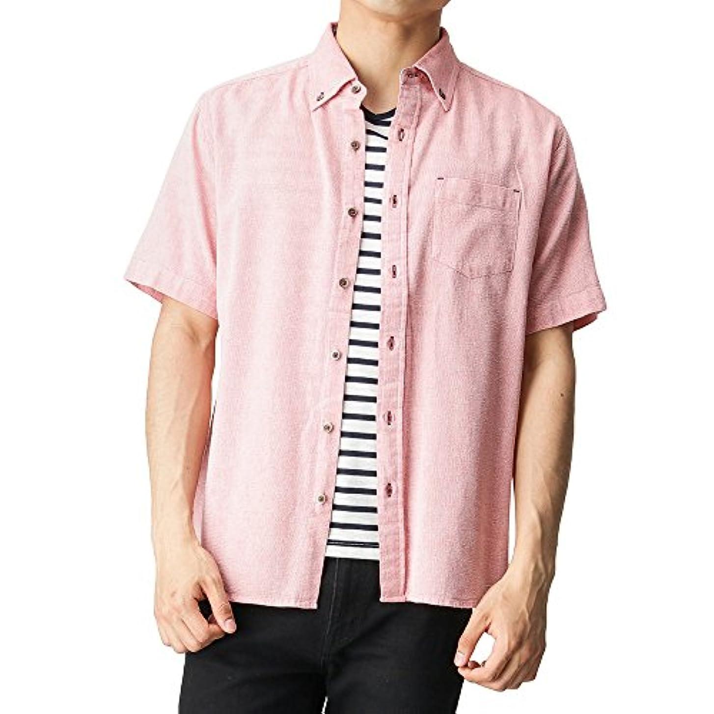 尽きる袋ほのかNavy(ネイビー) パナマアンサンブルボタンダウンシャツ 8270-7420 メンズ