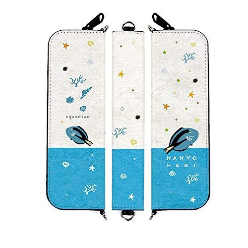 myblu ケース マイブルー カバー [デザイン:c.sky Blue - 3.ナンヨウハギ] yoshijin アクアリウム マウスピースを装着したまま収納可能 コンパクト オールインワン